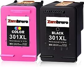 Zambrero Remanufacturado HP 301XL 301 XL Cartuchos de tinta Negro y Tricolor para HP Deskjet 1000 1010 1050 1050A 1510 2050 2050A 2540 3050 3050A 3055A HP ENVY 4500 4504 5530 HP Officejet 2620 4630