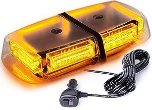 VKGAT 48 LED Roof Top Strobe Lights, Emergency Hazard Warning Safety Flashing LED Mini Bar Strobe Light for Truck Car Snow...