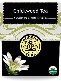 Sponsored Ad - Organic Chickweed Tea - Kosher, Caffeine-Free, GMO-Free - 18 Bleach-Free Tea Bags