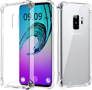 RKINC Case for Samsung Galaxy S9 Plus, Crystal Clear Reinforced Corners Soft TPU Bumper Cushion + Hybrid Rugged Soft Trans...