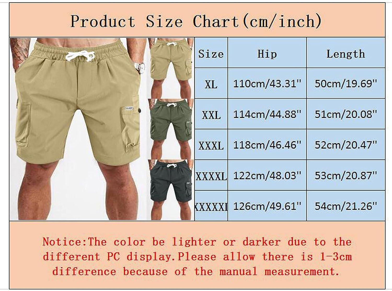 Men's Plus Size Cargo Shorts 2021 Summer Casual Versatile Sports Shorts Multi-Pocket Overalls Short Pants - Limsea