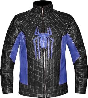 Genuine Leather The Amazing Spider Man 2 Men's Stylish Biker Bomber Costume Leather Jacket