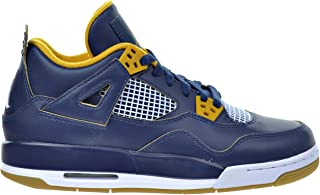 Air 4 Retro BG Big Kid's Shoes Midnight Navy/Metallic Gold/Gold Leaf/White 408452-425