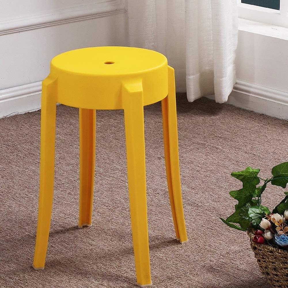 TAO Chaise de table à manger épaissie Siège unique Cuisine de loisirs en plein air Chaise de loisir légère et portable 26 × 45 cm (Color : Black) Yellow