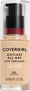 COVERGIRL Outlast Stay Fabulous 3-in-1 Foundation, 820 Creamy Natural