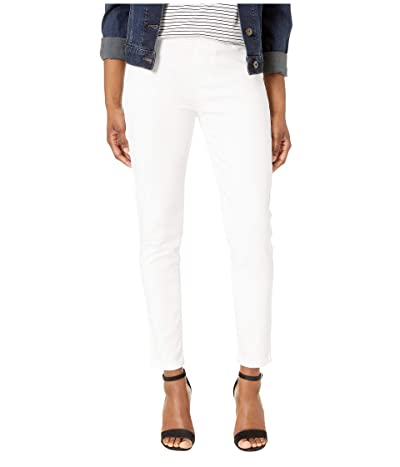 Liverpool Petite Sienna Ankle Pull-On Leggings in Slub Stretch Twill in Bright White (Bright White) Women