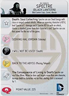 Heroclix DC War of Light #050b Spectre (Black Lantern) Prime Figure Complete with Character Card
