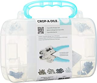 Crop-A-Dile Eyelet and Snap Punch Kit by We R Memory Keepers | Includes heavy-duty-plastic carrying case with teal handle,...