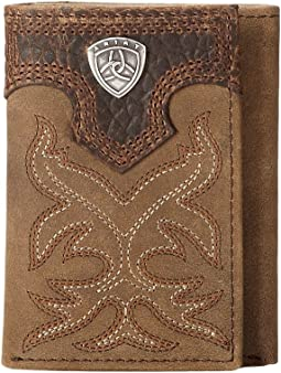 Ariat - Ariat Shield Boot Stitch Tri-Fold Wallet