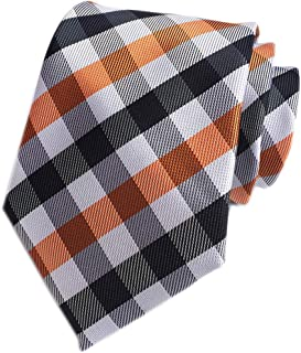 Classic Checks Striped Slim Tie Formal Business Jacquard Woven Necktie for Mens
