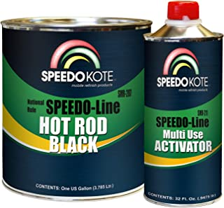 Speedokote SMR-207/211 - Hot Rod Black Paint, Black Satin 2K Urethane, SMR-207 4:1 mix Single Stage Gallon kit with activator included