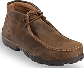 Twisted X Men's Chukka Driving Loafers for Men - Men's Leather Driving Moc
