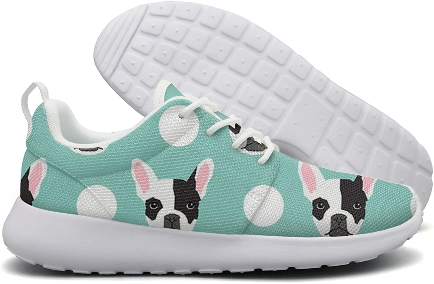 French Bulldog Pattern Womens Flex Mesh Women Casual shoes