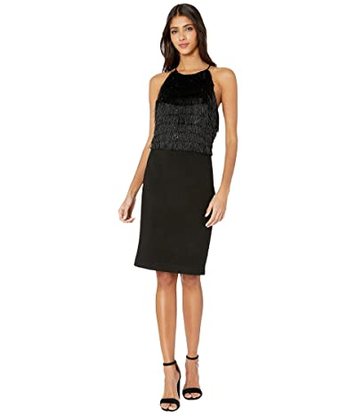 Halston Fringe Dress (Black) Women