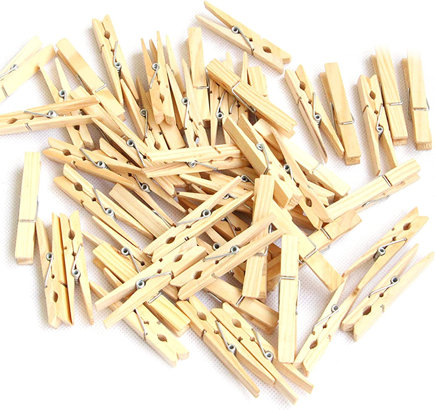 100pcs Wooden Clips Directly managed store Clothespins Paper for Han OFFicial shop Photo