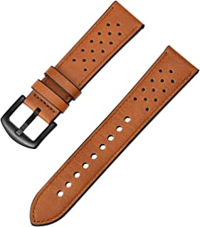 ZEIGER 22mm Interchangeable Leather Replacement Wrist Watch Bands Cattle Hide Leather Strap (Brown)