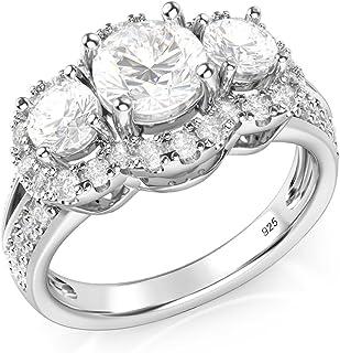 Wellingsale Mens 925 Sterling Silver Polished Rhodium Diagonal Set CZ Cubic Zirconia Wedding Band