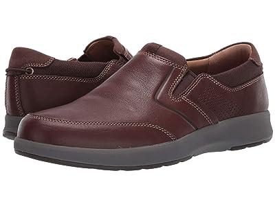 Clarks Un Trail Step (Mahogany Leather) Men