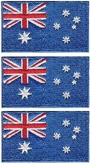 Tanto Badges Paquete de 3 parches bordados para planchar con la bandera de Australia de 65 mm x 40 mm