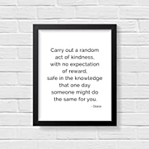 Pulling Diana Princess of Wales Quote Print Instant Carry Out a Random act of Kindness Lady Diana Quote Print Printable Quotes