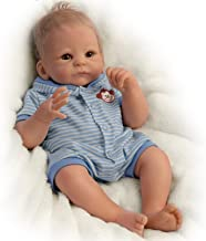 Benjamin So Truly Real® Lifelike & Realistic Weighted Newborn Baby Boy Doll 17-inches by The Ashton-Drake Galleries