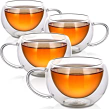 Best double glass tea cups Reviews