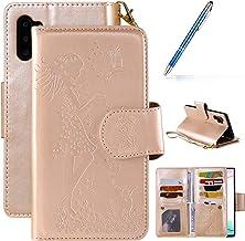 Robinsoni Case Compatibel met Galaxy Note 10 Plus Telefoon Case Lederen Portemonnee Case Book Stijl Case Bumper Beschermen...