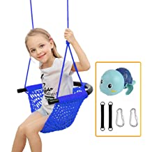 Children Wooden Craft Climbing Rope Ladder with Straps Hooks Swing Set for Indoor//Outdoor//Playground//Home//Tree//Backyard YBK Kids Swing Rope Ladder