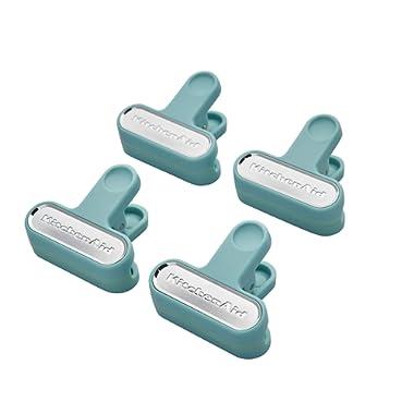 KitchenAid Classic Small Bag Clips, Set of 4, Aqua Sky