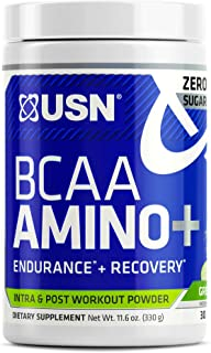 USN Supplements BCAA Amino + Supplement, Green Apple, 11.60 Ounce (USN0012)