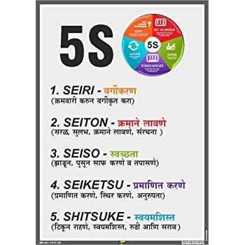 Mr Safe 5s Methodology Meanings Poster In Marathi Pvc Sticker A3 11 7 Inch X 16 5 Inch Amazon In Industrial Scientific