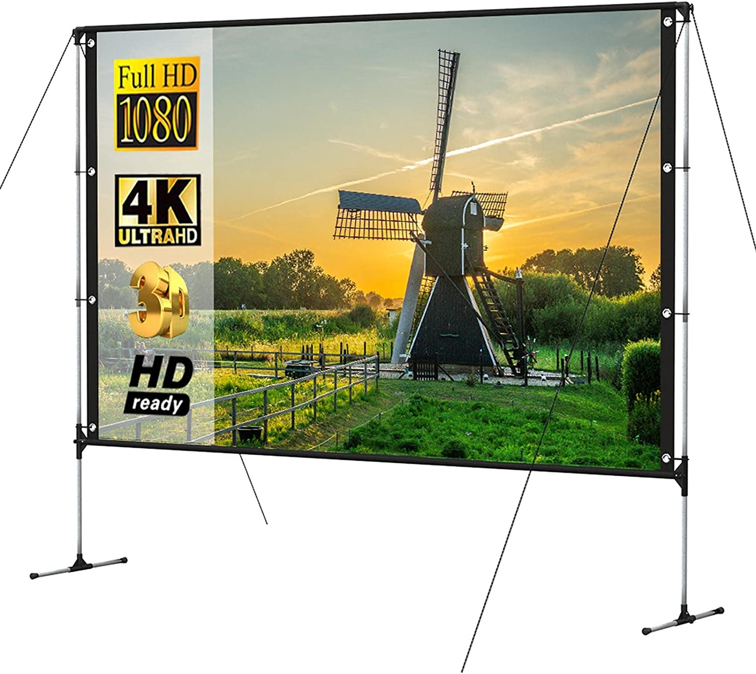 Outdoor Movie Screen w/Stand 100