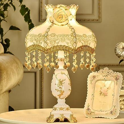MILUCE ヨーロッパスタイルのレーステーブルランププリンセスベッドルームのベッドサイドシンプルな結婚式の装飾ランプ