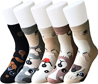 Womens Cotton Crew Quarter Socks - 6 Pairs Assorted Soft Casual Cool Solid Candy Color Crew Cut Socks for Womens Girls