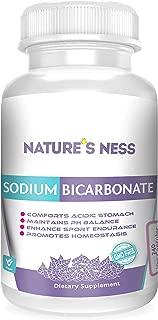 Natures Ness - Sodium Bicarbonate Antacid, 240 Veg Capsules Relief for Acid Indigestion, Heartburn, Sour Stomach & Upset Stomach