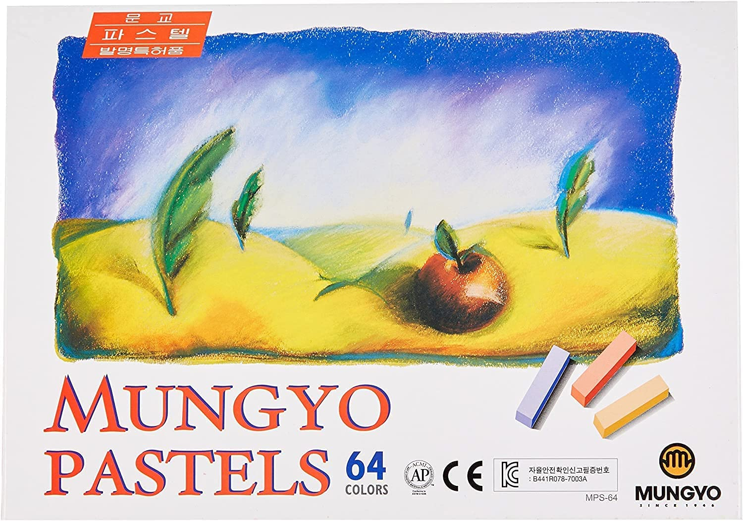 Mungyo Non Toxic Square Chalk, Soft Pastel, 64 Pack, Assorted Colors (B441R078-7003A) : Arts, Crafts & Sewing