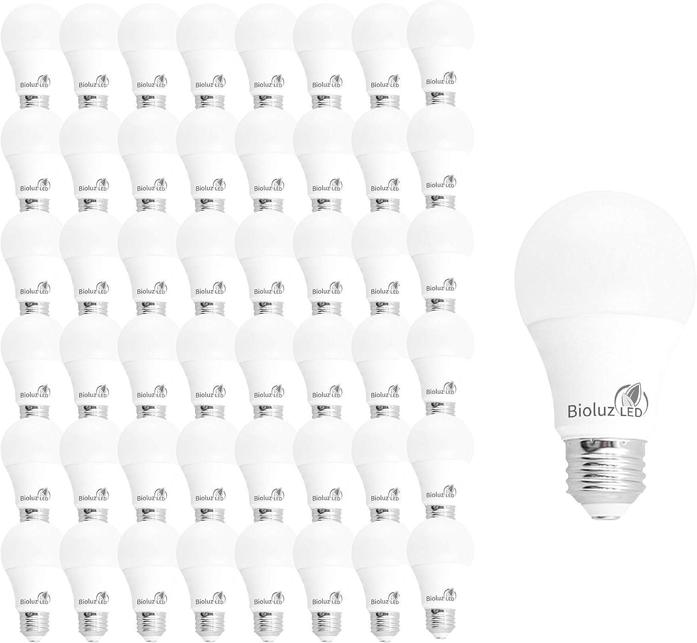 48 Pack Bioluz LED 40 Watt Series See 安心の定価販売 Warm Light Bulbs 直営店 Whit