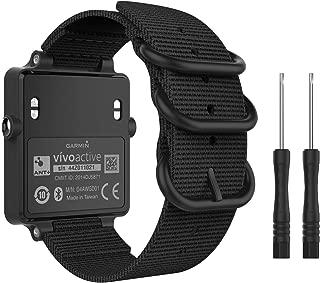 MoKo Watch Band for Garmin Vivoactive Acetate, Fine Woven Nylon Adjustable Replacement Strap for Garmin Vivoactive/Vivoactive Acetate Sports Smart Band