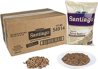 Santiago Whole Vegetarian Refried Beans – 27.09 oz. pouch, 6 pouches per case