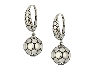John Hardy Dot Drop Earrings (Silver) Earring