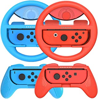 Switch Steering Wheels for Joy-Con Controller, Handle Grip for Nintendo Switch, for Mario Kart 8 Deluxe Nintendo Switch, S...