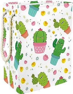 Vockgeng Cactus Vert Dessin animé Accueil Organisation Panier de Rangement imperméable Pliable de Jouets de Jouets de Pani...