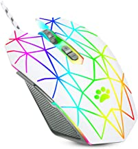 USB Wired Mouse,RGB Optical Computer Mouse,7200 DPI Office and Home Mice,7 Buttons Premium and Portable,Computer Mice Wire...