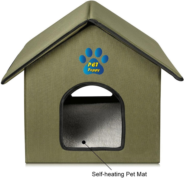 Outdoor Indoor Cat House by Pet Peppy