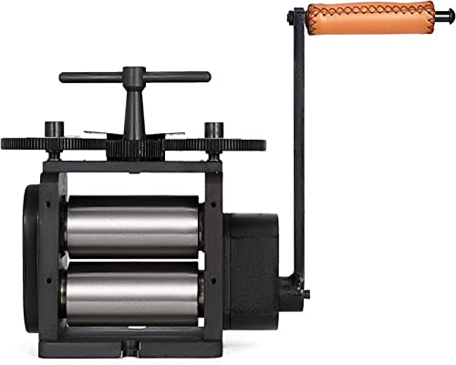 lowest Mophorn new arrival Jewelry Rolling Mill Flat Rolling Mill 130mm Wide 65mm Diameter Rollers Manual Rolling Mill high quality Machine Jewelry Marking Tools Designed for Jewelers and Crafts-People outlet online sale