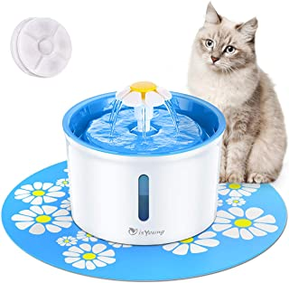 isYoung Cat Fountain 1.6L Automatic Pet Water Fountain Pet Water Dispenser, Dog/Cat..
