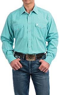 Cinch Men's Classic Fit Long Sleeve Snap Two Flap Pocket Print Shirt