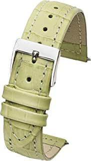Genuine Leather Watch Band in Alligator Grain Finish - Sizes 12,14,16,18,20 mm