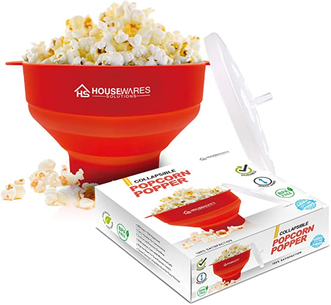 468 opinioni per Collapsible Silicone Microwave Hot Air Popcorn Popper Bowl With Lid and Handles