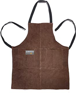 Outset F240 Leather Grill Apron, 0.25 x 26.5 x 29.75 inches, Brown